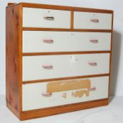 EARLY 20TH CENTURY 2 OVER 3 PINE CHEST OF DRAWERS