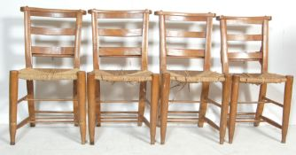 SET OF FOUR 19TH CENTURY EARLY 20TH CENTURY ECCLESIASTICAL CHAPEL CHAIRS