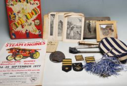 COLLECTION OF ASSORTED MILITARY AND OTHER RELATED ITEMS
