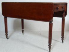 19TH CENTURY VICTORIAN MAHOGANY PEMBROKE TABLE