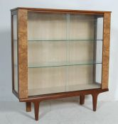 MID CENTURY MELAMINE FORMICA CHINA DISPLAY CABINET