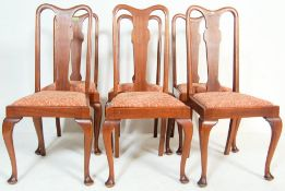 SIX MAHOGANY 1930'S QUEEN ANNE STYLE CHAIRS
