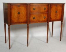 GEORGE III STYLE FLAME MAHOGANY SIDEBOARD / CONSOLE TABLE