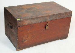 ANTIQUE 19TH CENTURY VICTORIAN MAHOGANY CHEST