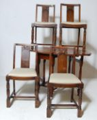 VINTAGE MID CENTURY ERCOL DINING CHAIRS TOGETHER WITH A DROP LEAF TABEL