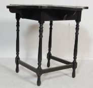 19TH CENTURY VICTORIAN EBONISED MAHOGANY OCCASIONAL TABLE / GAMES TABLE