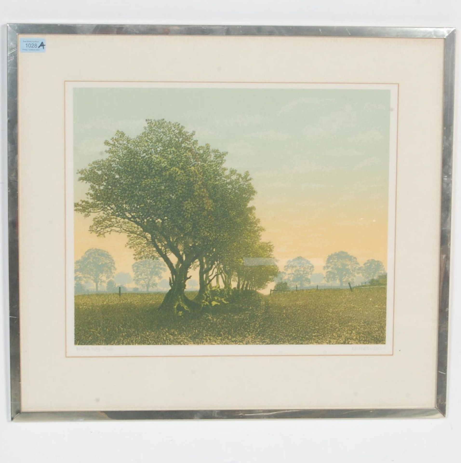 SIGNED LITHOGRAPH PLEINT BY KENNETH LEECH - BRIDLE WAY