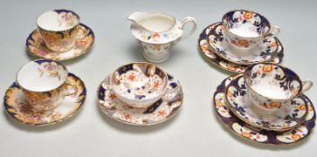 COLLECTION OF EARLY 20TH CENTURY IMARI PATTERN CABINET CERAMIC WARE TO INCLUDE CUPS AND SAUCERS