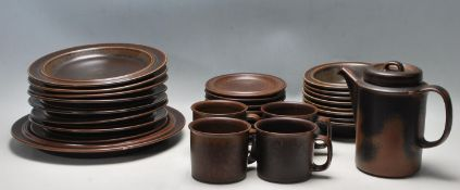 1970'S DINNER SERVICE BY ARABIA WITH RUSKA PATTERN