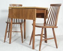 RETRO VINTAGE LATE 20TH CENTURY ERCOL STYLE EXTENDABLE DINING AND CHAIRS