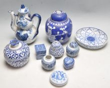 COLLECTION OF ANTIQUE CHINESE BLUE AND WHITE CERAMICS