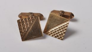 1960'S 9CT GOLD GENTLEMAN'S CUFFLINKS