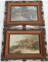 AFTER EZRA ELMER KEENE ( 1853 - 1929 ) A PAIR OF PRINTS / LITHOGRAPHS