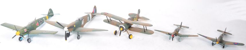 COLLECTION OF X5 BRITISH & GERMAN WWII FIGHTER MOD