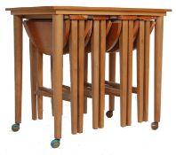 VINTAGE RETRO 20TH CENTURY TEAK WOOD NEST OF TABLES