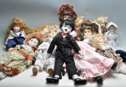LARGE QUANTITY OF VINTAGE PORCELAIN DOLLS
