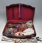 COLLECTION OF 20TH CENTURY GLASS BEAD NECKLACES AND OTHERS