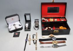 COLLECTION OF VINTAGE COSTUME JEWELLERY AND WATCHES