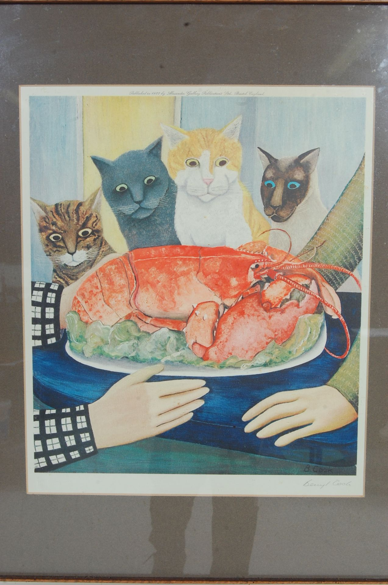 BERYL COOK ' FOUR HUNGRY CATS ' SIGNED LITHOGRAPH PRINT - Bild 2 aus 5