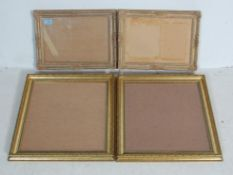 FOUR VINTAGE 20TH CENTURY BAROQUE STYLE GILDED PICTURE FRAMES