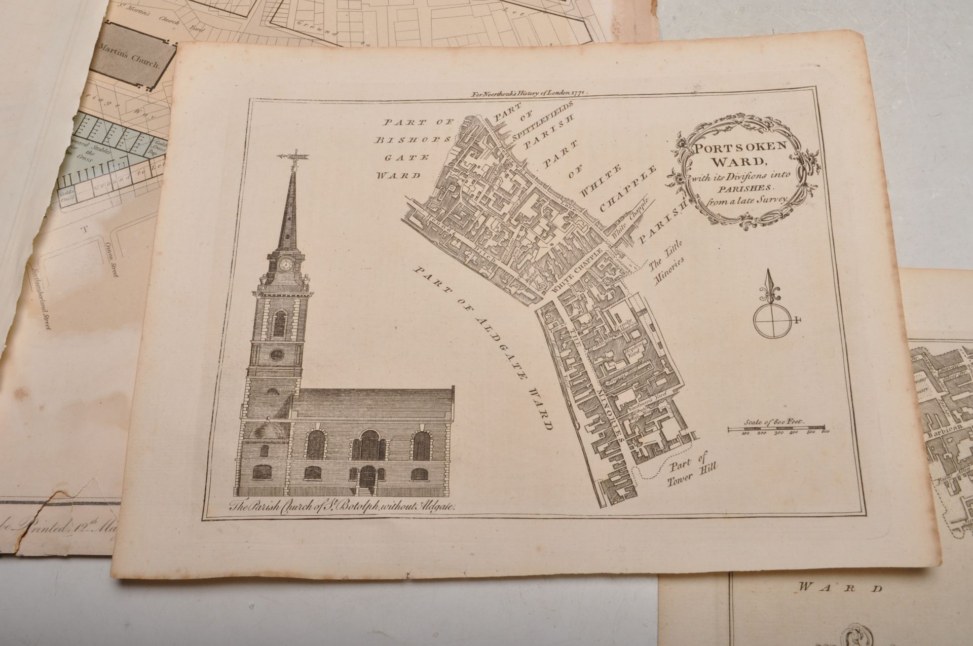COLLECTION OF ANTIQUE LONDON RELATED MAPS & PLANS - Bild 6 aus 10