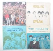 THE HOLLIES - GROUP OF FOUR VINYL RECORD ALBUMS