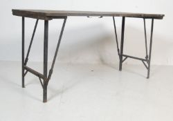 1940'S WWII GEORGE VI TRESTLE TABLE / FOLDING TABLE