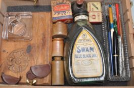 COLLECTION OF 20TH CENTURY DESK TOP WRITING ITEMS
