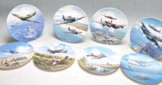 EIGHT ROYAL DOULTON MILITARY COLLECTORS PLATES