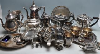 LARGE QUANTITY OF 20TH CENTURY SILVER PLATED WARE
