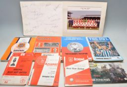 COLLECTION OF ARSENAL FOOTBALL CLUB RELATED EPHEMERA