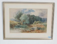 ENGLISH SCHOOL WATERCOLOUR PAINTING - SIGNED COMPTON