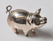 SILVER HALLMARKED PIG FIGURINE