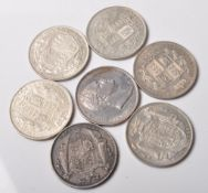 GROUP OF SEVEN 19TH CENTURY HALF CROWNS