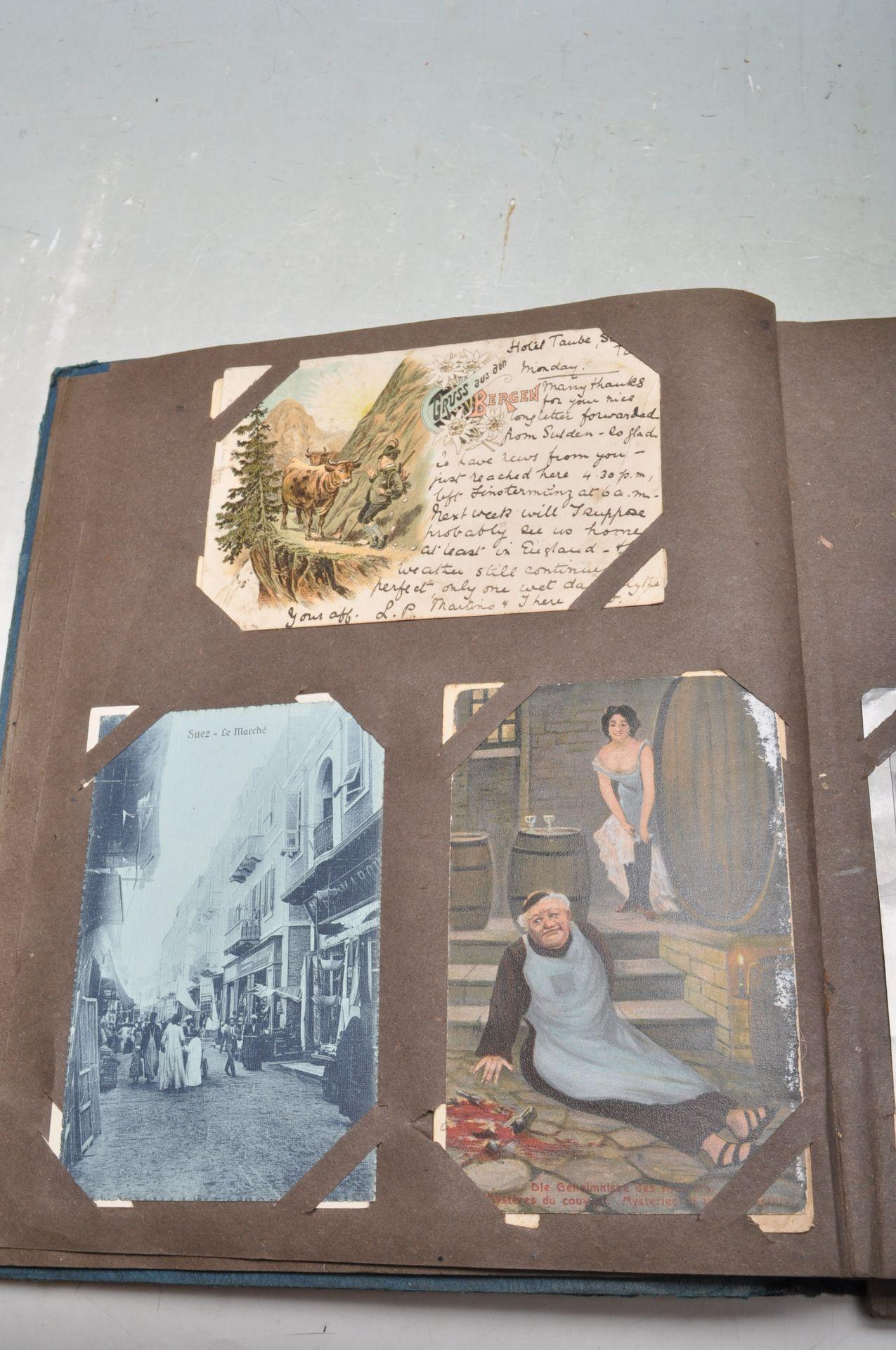 ALBUM OF FOREIGN POSTCARDS - ALL CIRCA WW1 PERIOD - Bild 8 aus 23