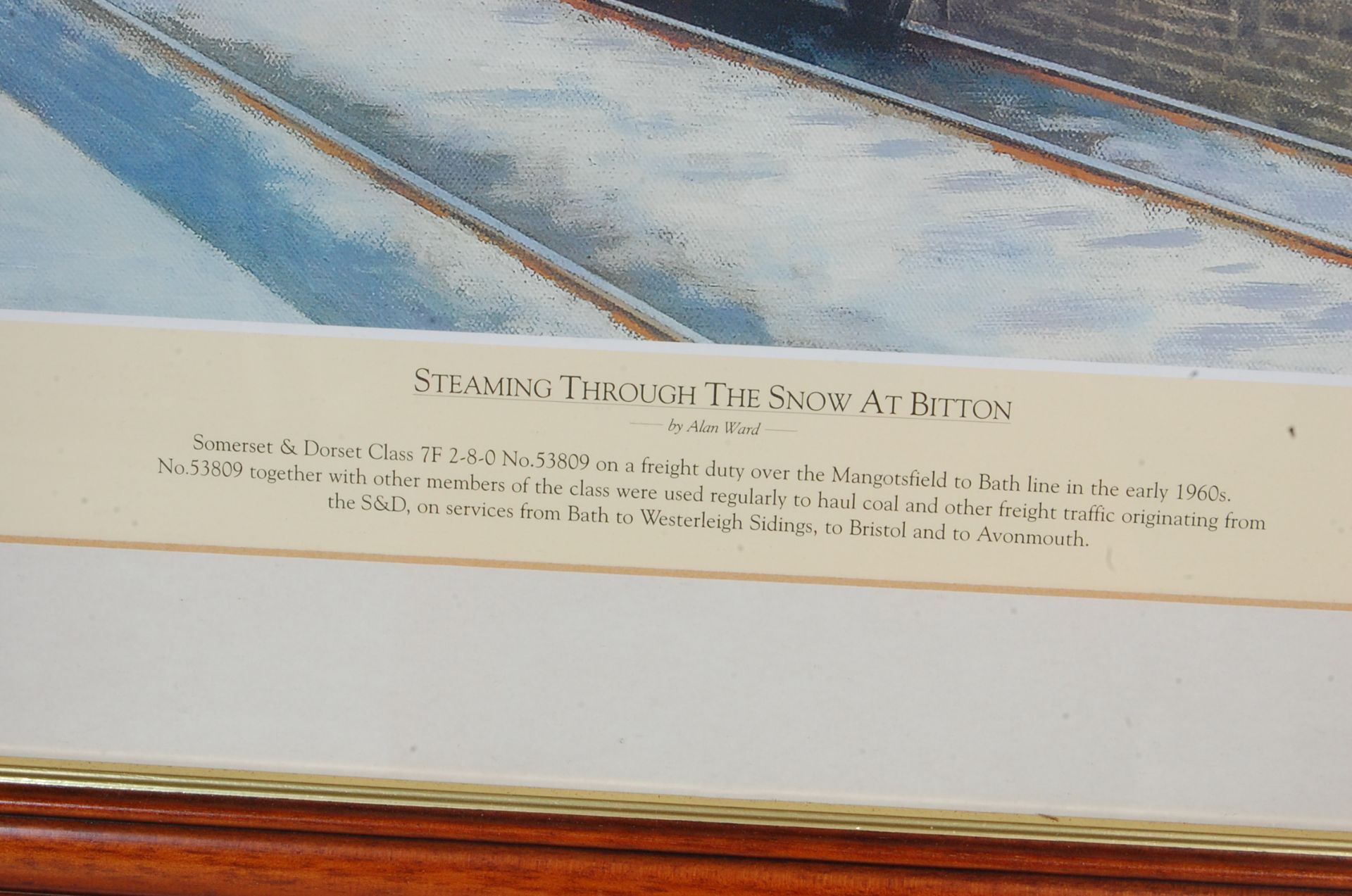 RAILWAY INTEREST - STEAMING THROUGH THE SNOW AT BITTON - LTD ED PRINT - Bild 6 aus 9