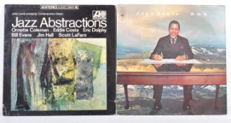 JOHN LEWIS - TWO VINYL RECORDS JAZZ ABSTRACTIONS AND P.O.V