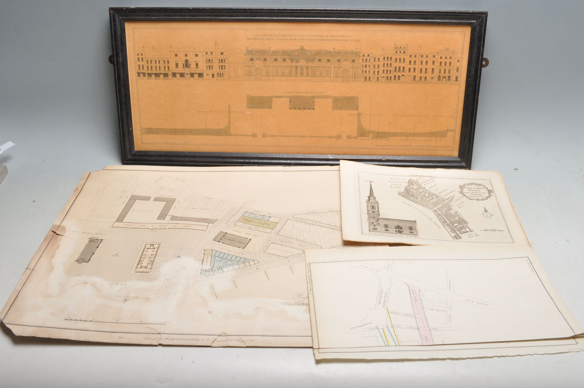 COLLECTION OF ANTIQUE LONDON RELATED MAPS & PLANS