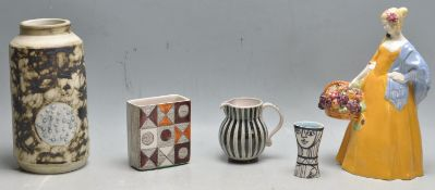 COLLECTION OF VINTAGE STUDIO ART POTTERY INCLUDING CORNISH WARE