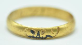 GEORGIAN GOLD MOMENTRO MORI MOURNING RING WITH SKULL