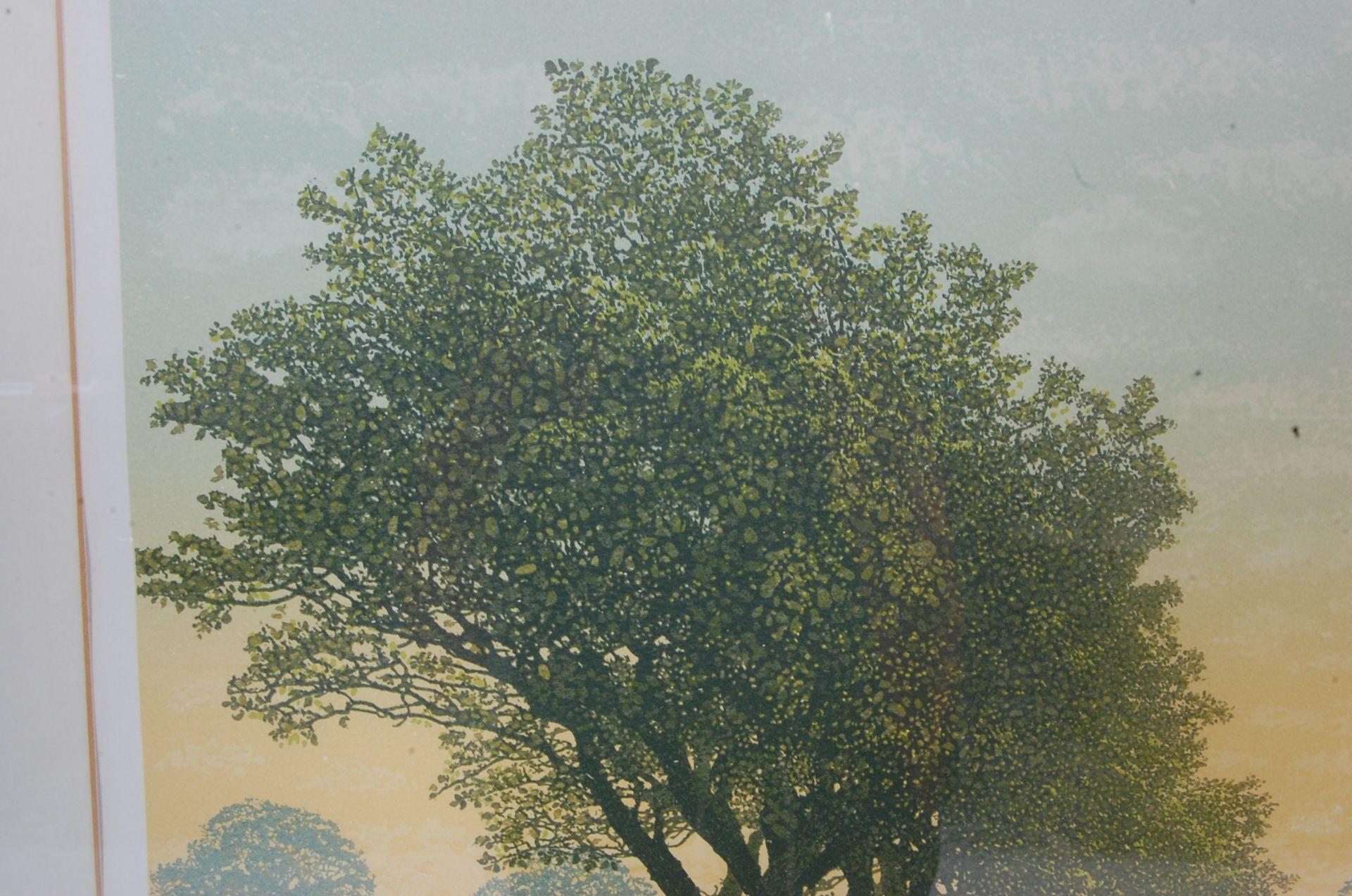 SIGNED LITHOGRAPH PLEINT BY KENNETH LEECH - BRIDLE WAY - Bild 3 aus 8
