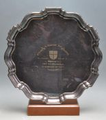1960'S SILVER PLATED PRESENTATION TRAY