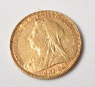 1901 VICTORIAN GOLD FULL SOVEREIGN