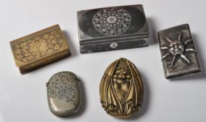 COLLECTION OF EARLY 20TH CENTURY VESTA CASES