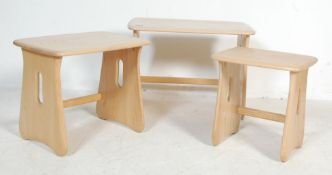CONTEMPORARY ERCOL WINDSOR RANGE NEST OF TABLES