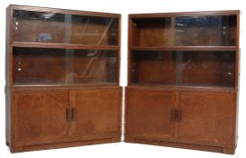 RETRO VINTAGE MID 20TH CENTURY MINTY LAWYERS STACKING BOOKCASE