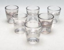 SIX 19TH CENTURY VICTORIAN PENNY LICKS GLASSES