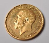 1911 DOUBLE SOVEREIGN £2 GOLD COIN