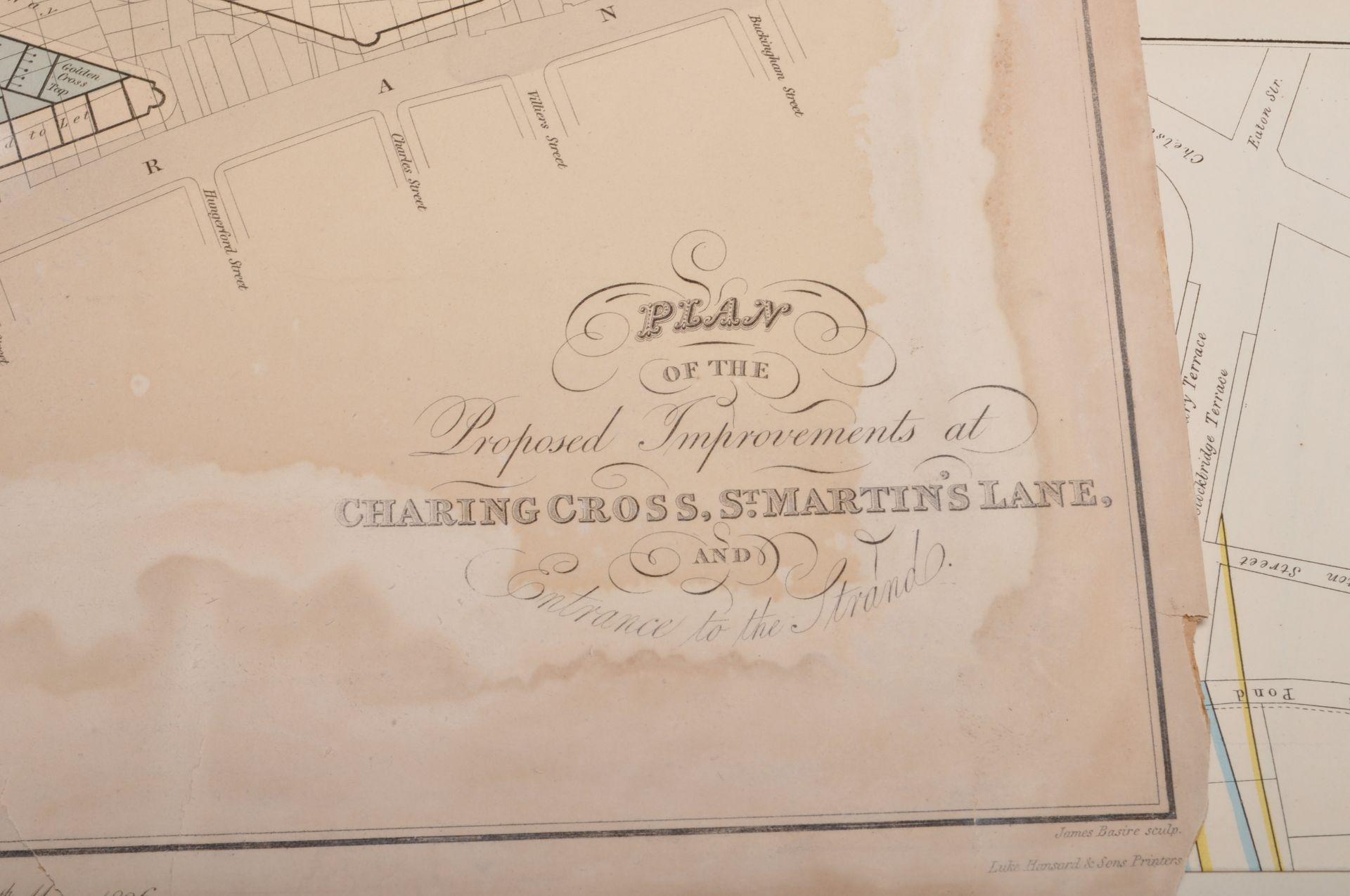 COLLECTION OF ANTIQUE LONDON RELATED MAPS & PLANS - Bild 3 aus 10