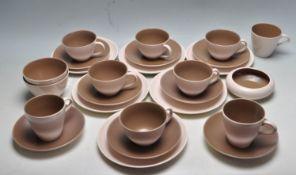 RETRO VINTAGE 1970S TWO TONE POOLE POTTERY TEA SET